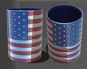 American Flag Cylinder 3D print model
