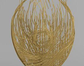 Metal bear 3D model