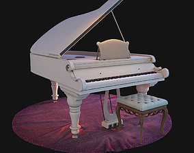 3D piano on the carpet