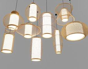 Bamboo Rattan Lamp 3D