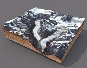 3D model Mountain landscape alpine