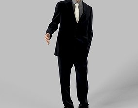 3D model Peter A Business Man Elegant Standing Holding his