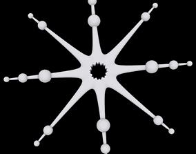 greetings 3D printable model Snowflake