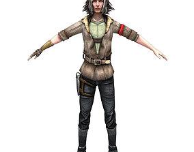 3D asset Partisan Girl