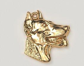 GOLDEN HEAD OF DOGS 3D printable model