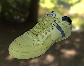 walking game-ready Sneaker shoe 3D model low poly
