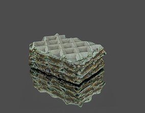 Coffee cake 3D asset