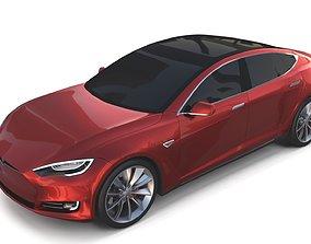 Tesla Model S 2016 Red