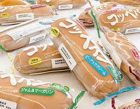 3D asset Bread Package - Coppe Pan - Soft Bread Roll