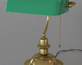 3D Green bankers lamp