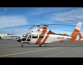 3D model Eurocopter AS 365 Offshore Rescue