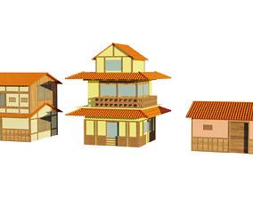 3D model Japanese Style Houses-Anime- very cheap