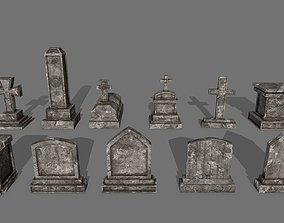 Tombstone set 3D model