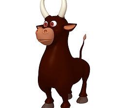 Bull Cartoon 3D model milk