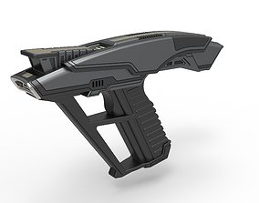 Starfleet Hand Phaser from Star Trek 3D printable model 3