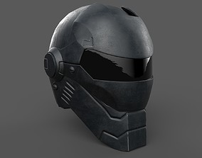 Helmet scifi military combat 3D asset game-ready