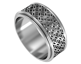 geometric classic ring 3D print model
