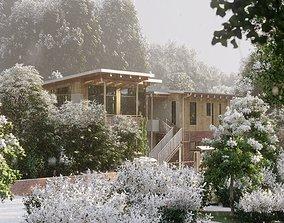 Exterior Mountain House Villa Project 3D model