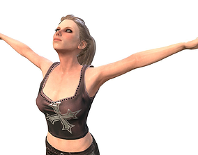 Girl Character body 3D asset animated