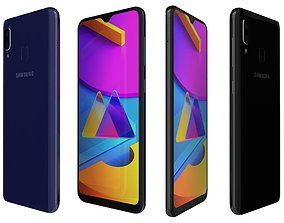 3D Samsung Galaxy M10s Metallic Blue And Stainless Black