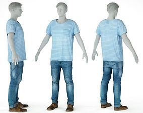 Male Casual Outfit 70 Shirt Trousers 3D model