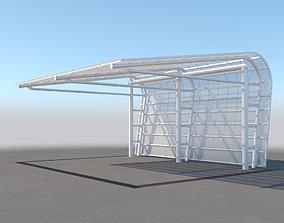 3D Carport Design With Steel Construction 3