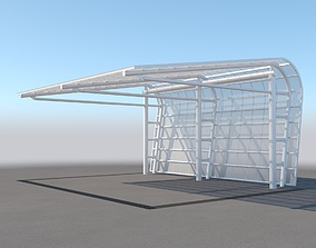 3D Carport Design With Steel Construction 3