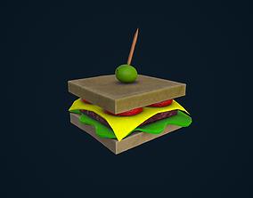 3D model Stylized Sandwich
