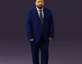 Man in blue suit 0547 3D Print Ready