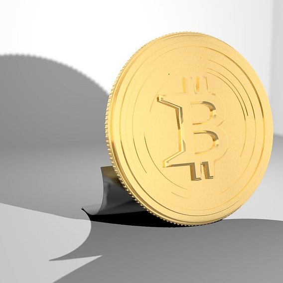 Bitcoin - gold 3D print model