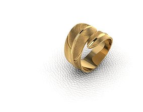 Ring-Feather 3D print model