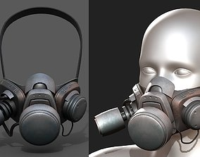 Gas mask respirator scifi futuristic military 3D model