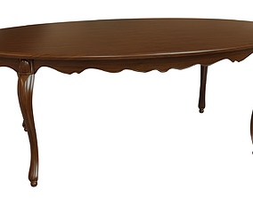 Classic wood table 2100 3D model
