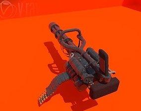 3D model VR / AR ready minigun