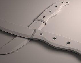 3D model knife product design