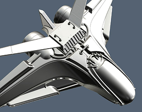 3D Intergalactic Spaceship High Poly