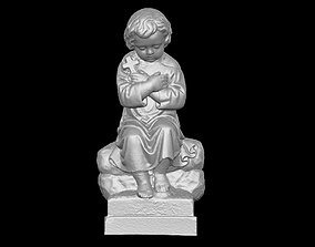 catholic 3D printable model Old Funeral Sculpture Statue