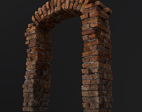 Old Brick Arch 3D asset