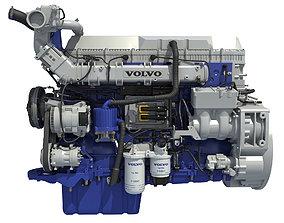 3D model Volvo Powertrain D13 Engine cylinder