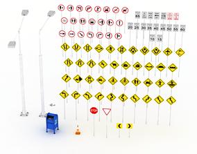 3D asset Street Elements