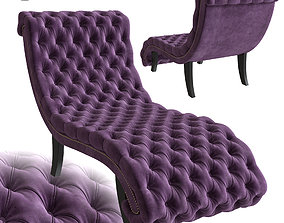 3D model Armchair Desire Kare Design velvet