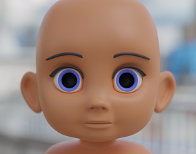 character 3D model Baby head