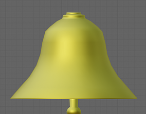 3D asset Simple Gold Bell with Animation