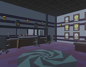 3D asset Low Poly Music Studio