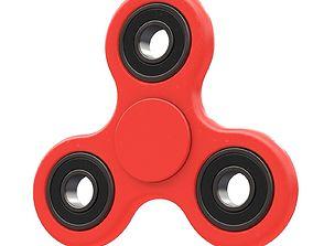 Red seam spinner 3D model