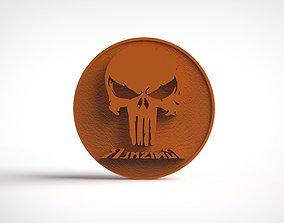 3D print model The Punisher Logo Stamp