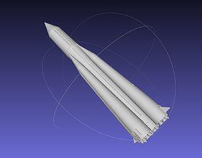 orbit Sputnik Launcher Rocket Printable Model