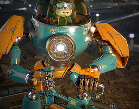 Pilot Boy and Mecha 3D