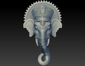 Ganesh 3D Model silver