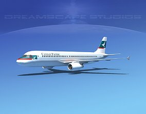 3D asset Airbus A320 LP Cathay Pacific